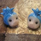 Mohawk Blue Punk Kid Head Beads