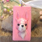 Boston Terrier in Pink Pendant