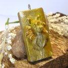 Pomeranian Golden Pendant