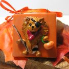 Pomeranian The Halloween Pirate Polymer Clay Dog Tile