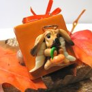 Bloodhound Little Angel Polymer Clay Dog Tile