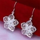 silver plated beautiful flower earrings