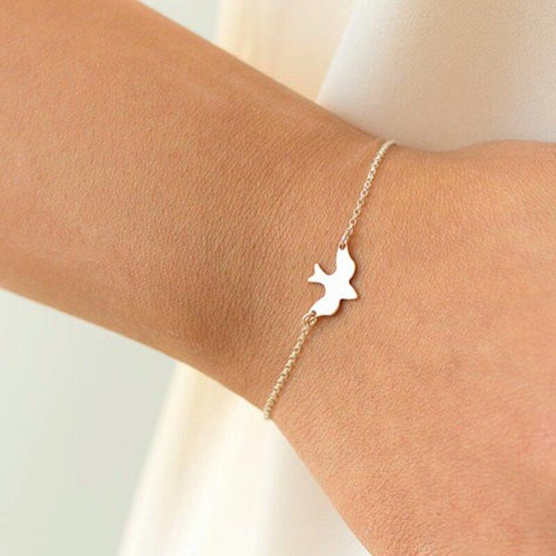 Tiny Peace Dove Bracelet