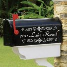 "Personalized vinyl MAILBOX decals! SET OF 2 -  4"" x 10""! MAI-00004"