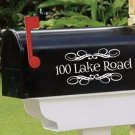 "Personalized SET OF 2 vinyl mailbox decals! 4.5"" X 10""  MAIL-00005"