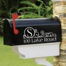"Personalized vinyl MAILBOX decals! SET OF 2 - 4.5"" X 10"" DECALS! MAI-00003"