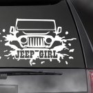 "JEEP GIRL Decal, CAR,TRUCK/ Window sticker! 4.75"" x 8""  JEE-00005"