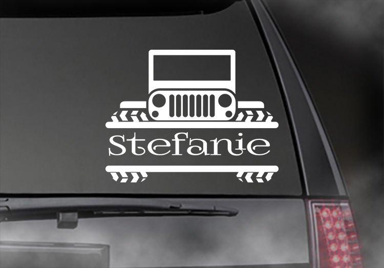 "JEEP PERSONALIZED Decal, CAR,TRUCK/ Window sticker! 4.5"" x 6""  JEE-00006"