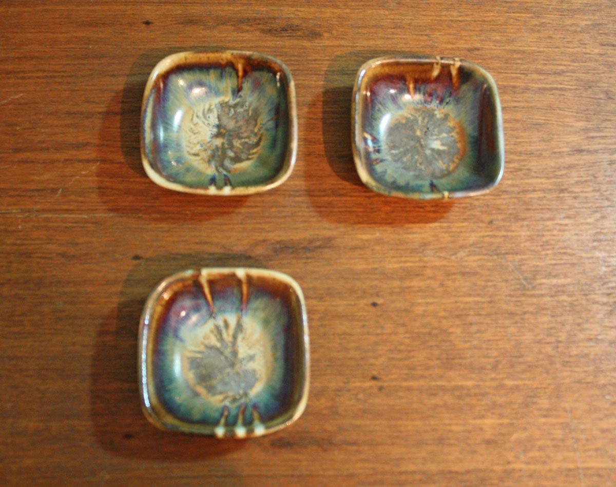 Set of 3 pieces ceramic utilitarian stoneware