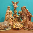 1o Piece Multi Color Religious Christmas Nativity Figurine Set 12""