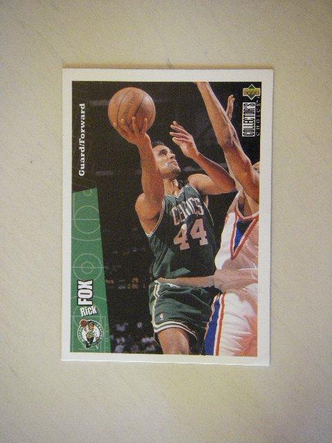 1996 Upper Deck Collector's Choice Rick Fox Boston Celtics #9