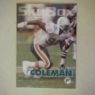 1993 SkyBox Marco Coleman Miami Dolphins #90