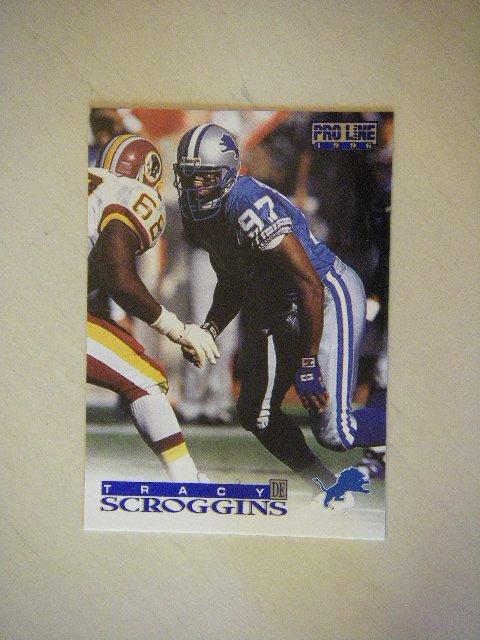 1996 Pro Line Tracy Scroggins Detroit Lions #182