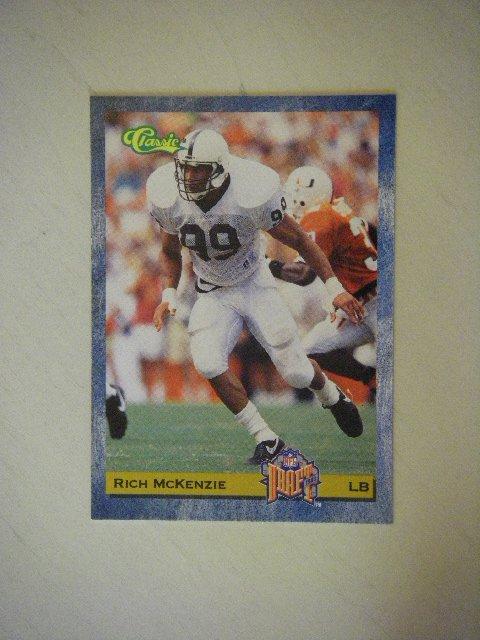 1993 Classic NFL Draft Rich McKenzie Cleveland Browns #80