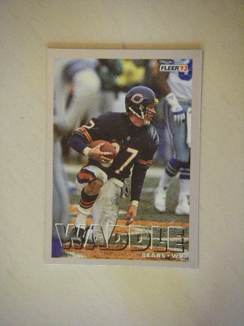 1993 Fleer Tom Waddle Chicago Bears #166