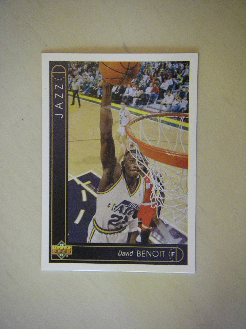 1993 - 94 Upper Deck David Benoit Utah Jazz #27