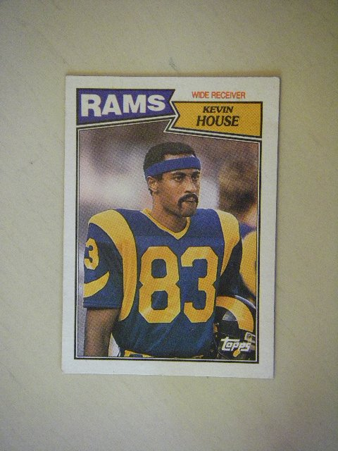 1987 Topps Kevin House Rams #149