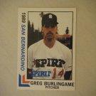 1989 San Bernardino Official Spirit Cards Greg Burlingame #5