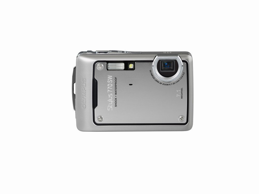 Olympus Stylus 770SW 7.1MP Digital Camera with 3x Optical Zoom (Silver)
