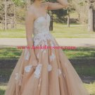 Ball Gown Sweetheart Tulle Lace Appliques Long Prom Formal Evening Party Dresses E0770