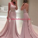 Mermaid One-Shoulder Beaded Long Prom Formal Evening Party Dresses E0952