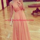 A-Line Cap Sleeves Beaded Long Chiffon Prom Formal Evening Party Dresses E1142