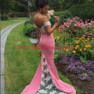 Mermaid Off-the-Shoulder Lace Long Prom Formal Evening Party Dresses E1420
