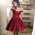 A-Line Off-the-Shoulder Short Red Homecoming Prom Formal Evening Party Dresses E1530