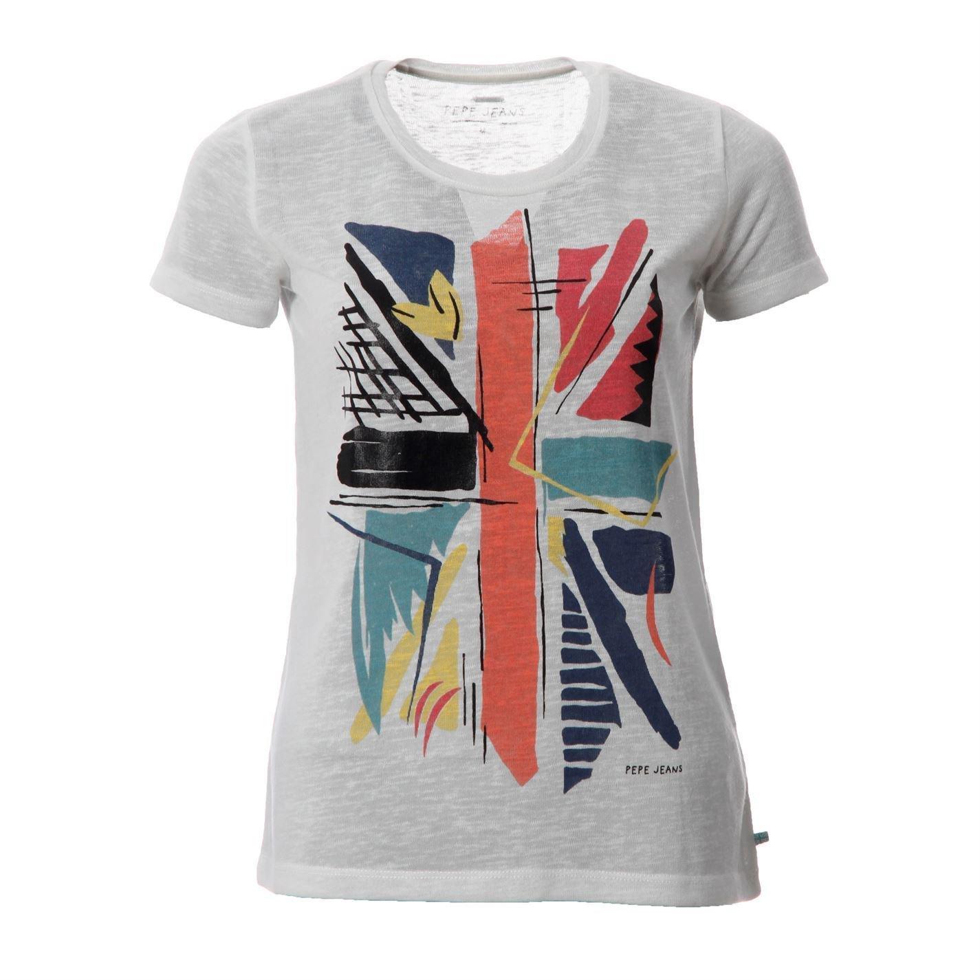 Pepe Jeans Womens Cruz Printed T Shirt Short Sleeve Tee Casual Top Ladies