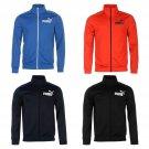 Puma Mens Track Jacket Full Zip Mock Neck Long Sleeve Clothing