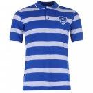 Team Mens Stripe Polo Shirt Short Sleeved Football Tee Top