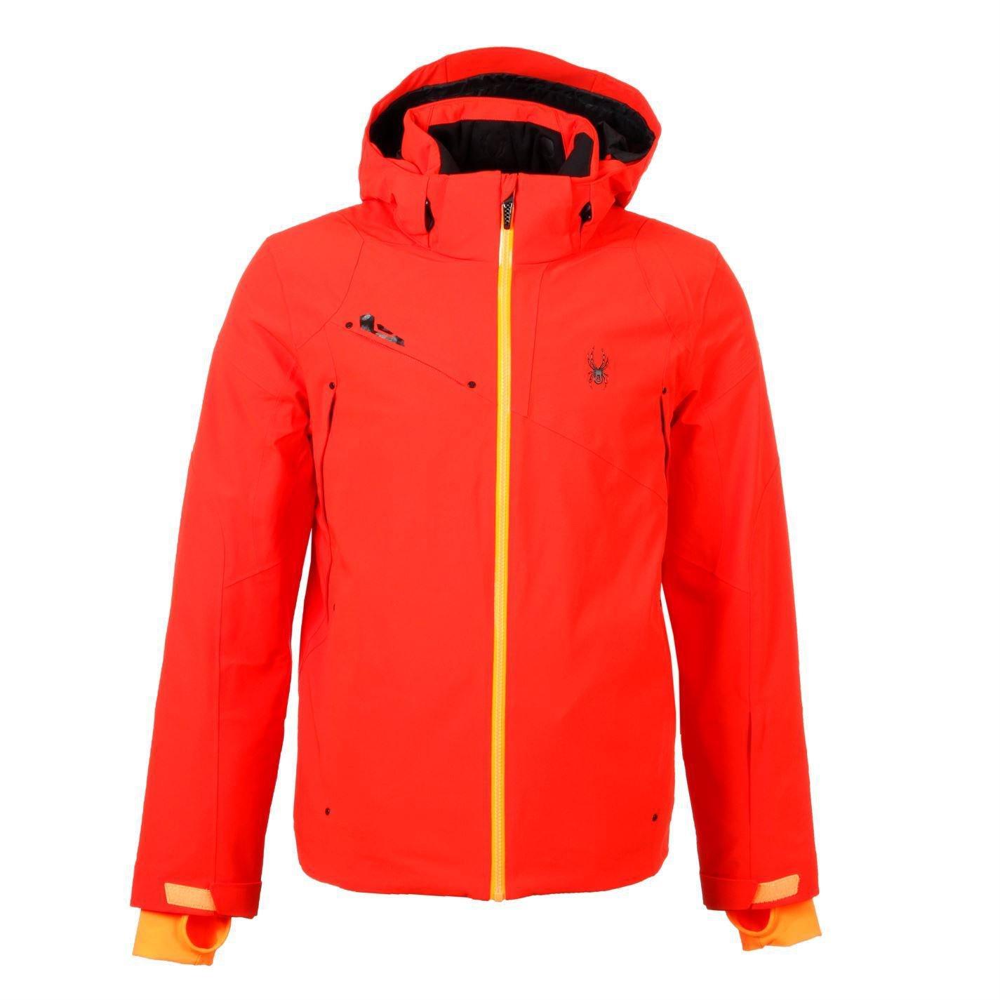 Spyder Mens Alyeska Jacket Long Sleeve Coat Top Ski Snowboarding Sports