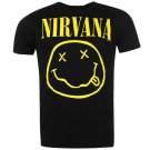 Official Band Merch Mens Nirvana Tee T Shirt Crew Neck Short Sleeve Top