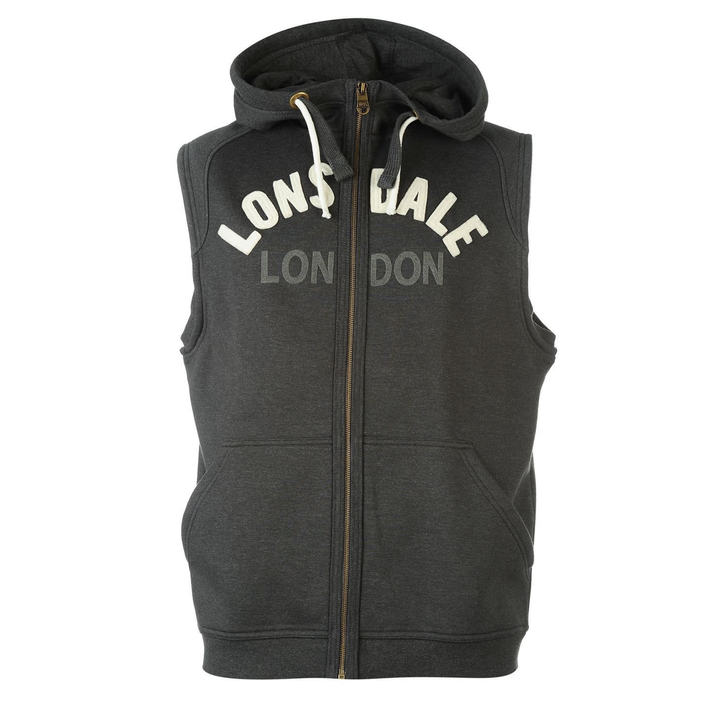 Lonsdale Mens Box SlesHd2 Boxing Hoodie Hooded Sweatshirt Top Clothing