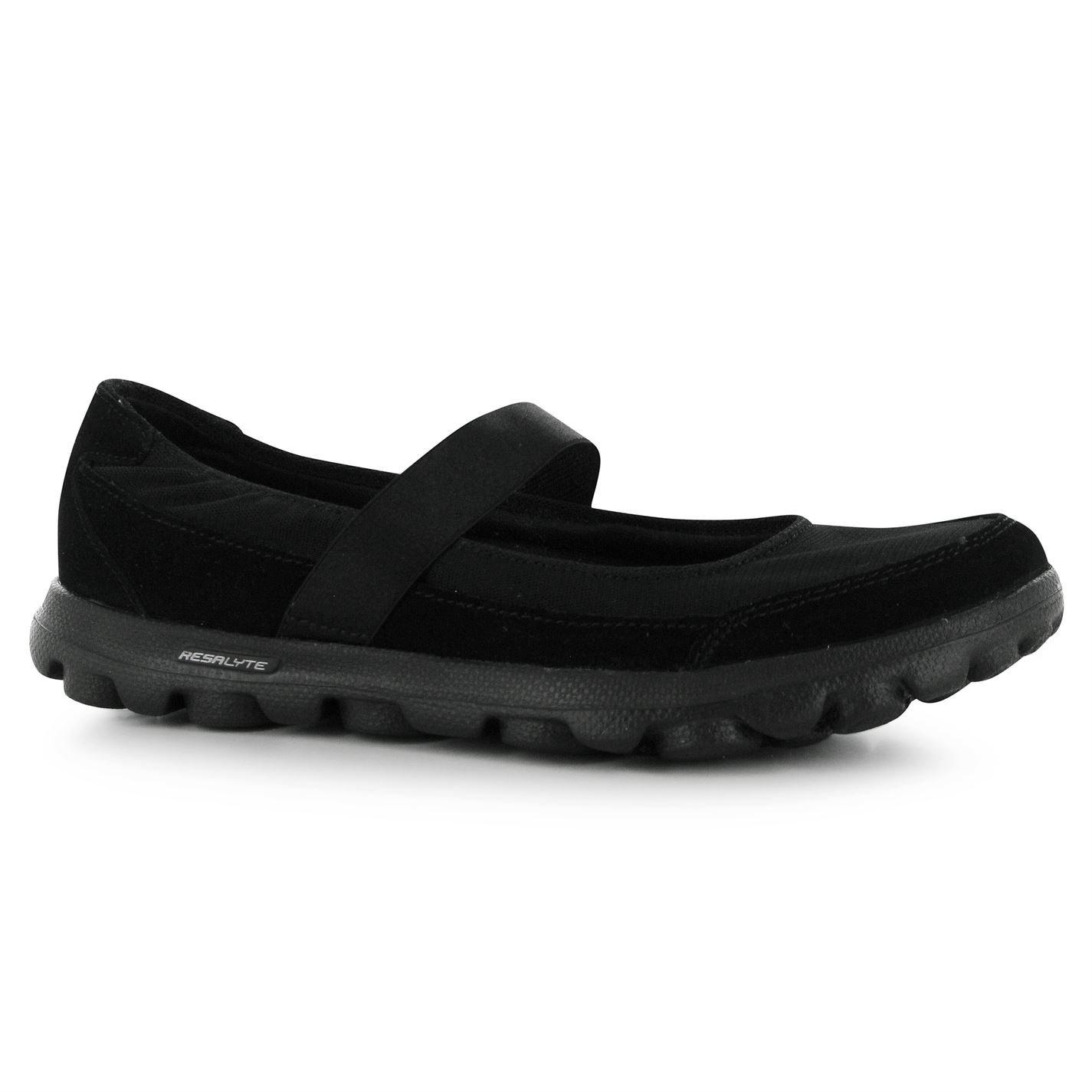 Skechers Womens Go Walk ED Nylon Slip On Mary Jane Shoes Casual Footwear