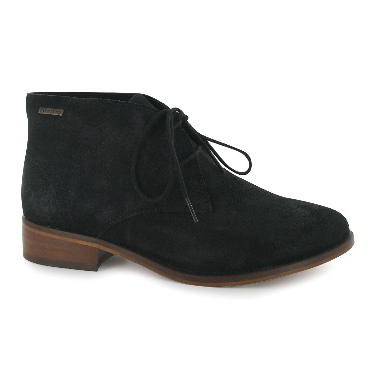 Firetrap Womens Ladies Sinita Boots Slight Heel Flat Ankle Lace Up Footwear