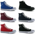 Dunlop Mens Canvas High Top Trainers Lace Up Herringbone Cushioned Casual Shoes