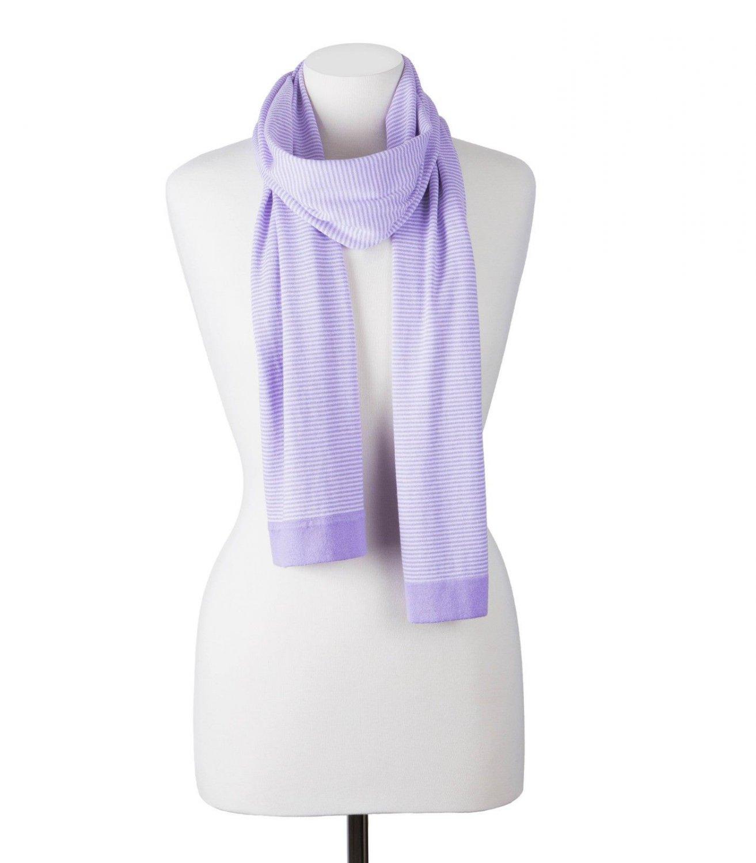 WoolOvers Mens Silk Cotton Fine Stripe Stylish Practical Warm Winterschal Scarf
