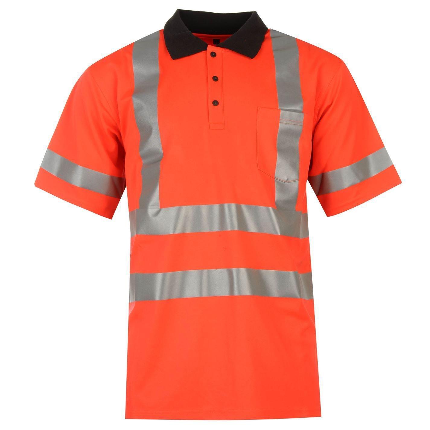 Helly Hansen Mens Folkestone Hi Vis Polo T Shirt Tee Top Workwear Safety