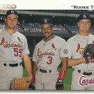 1992 Upper Deck Brian Jordan, Donovan Osborne, Mark Clark No. 702 RC