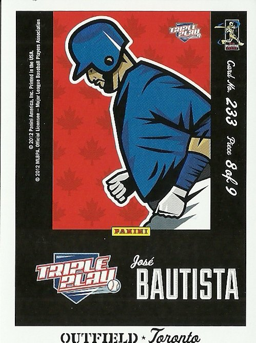 2012 Triple Play Jose Bautista No. 233
