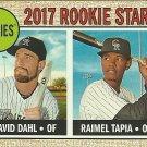 2017 Topps Heritage David Dahl, Raimel Tapia No. 258 RC