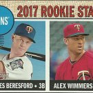 2017 Topps Heritage James Beresford, Alex Wimmers No. 179