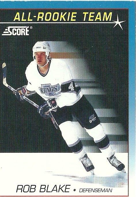 1991 Score Rob Blake No. 379 RC