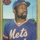 1987 Topps Mookie Wilson No. 625
