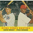 2007 Topps Heritage David Wright, Ryan Howard No. 436
