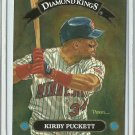 1992 Donruss Diamond Kings Kirby Puckett No. DK-4