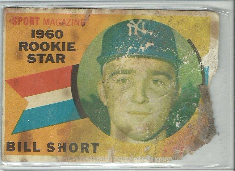 1961 Topps Bill Short No. 142 RC (Damaged)