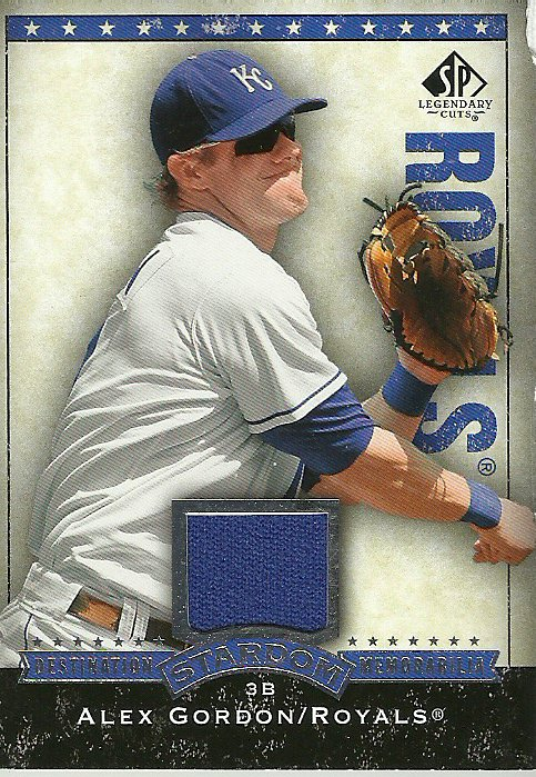 2008 SP Legendary Cuts Alex Gordon No. DS-AG Relic Card
