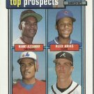 1992 Topps Manny Alexander, Alex Arias, Wil Cordero, Chipper Jones No. 551 RC